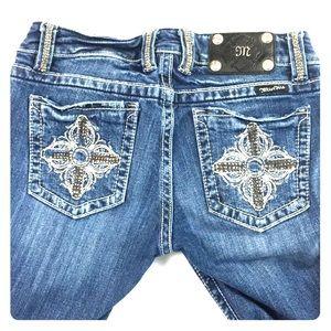 Miss me Bootcut bling pocket denim jeans size 29